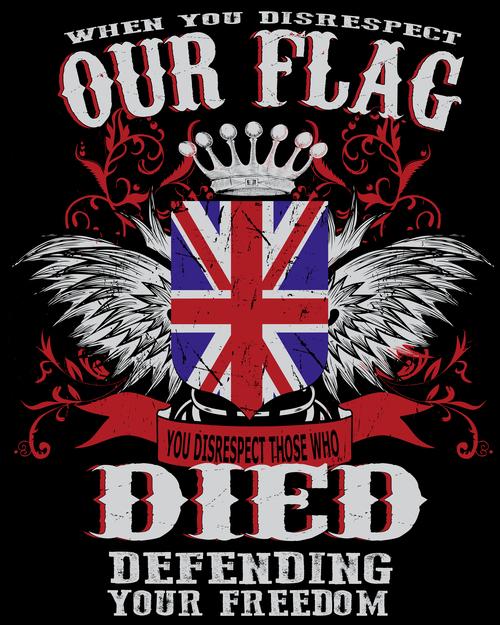 British flag t shirt design vector