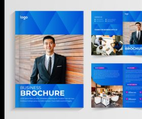 Business cooperation brochure vector