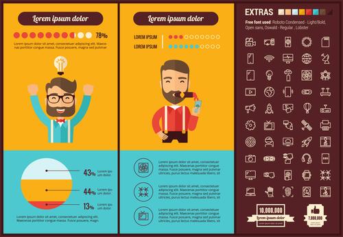 Business golden idea infographic vector