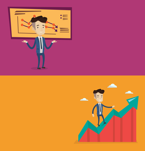 Business lecture flat design vector