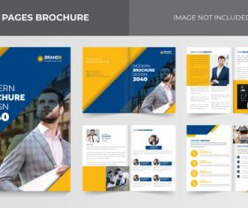 Business outlook brochure vector