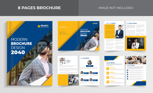 Business outlook brochure vector