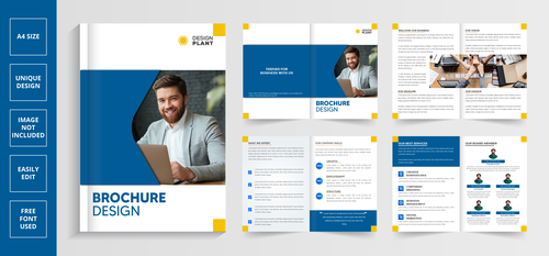 Business team brochure vector
