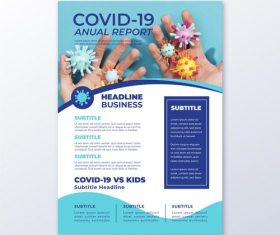 COVID-19 anual report vector