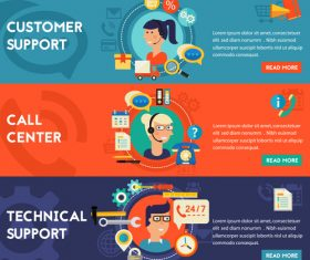 Call center flat concept vector