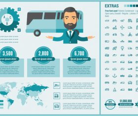 Car sales infographic vector