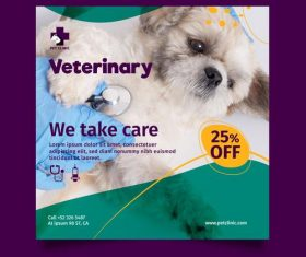 Caring for your pet flyer vector