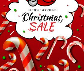 Cartoon Christmas promotion flyer vector