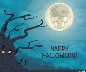 Cartoon illustration halloween vector