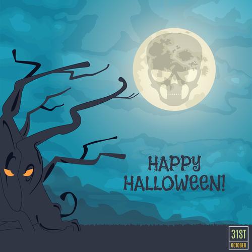 Cartoon illustration halloween vector