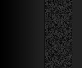 Carved Islamic black decoration pattern vector