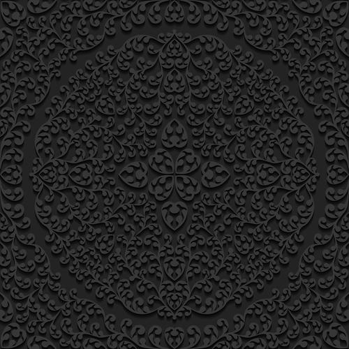 Carved flower pattern vector