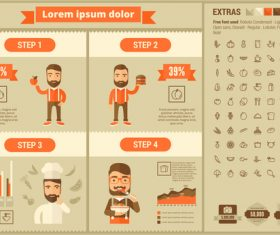 Catering industry infographic vector