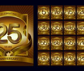Celebrating anniversary logo vector