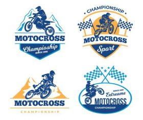 Championship motocross logo vector