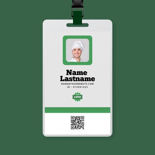 Chef certification badge vector