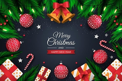 Christmas background concept vector