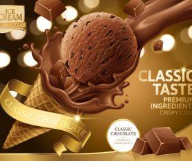 Classic taste chocolate ad vector