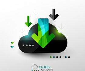 Cloud download abstract infographics vector