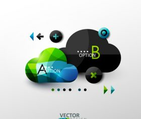 Cloud service abstract infographics vector