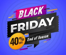 Color flyer black friday vector