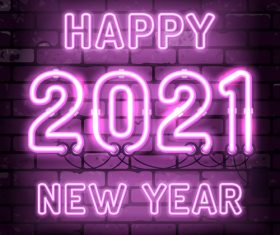 Color neon 2021 vector