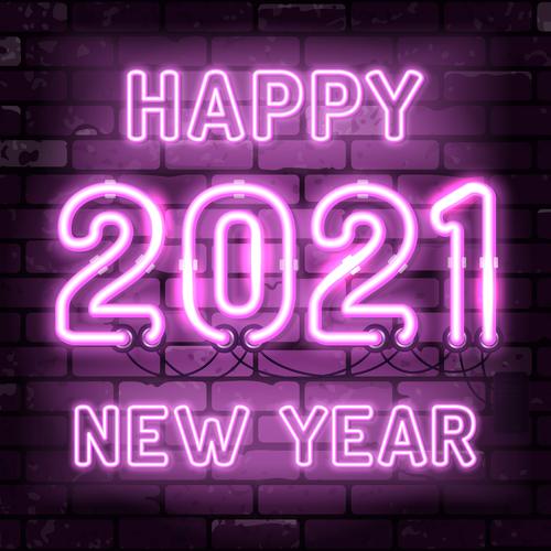 Color neon 2021 vector