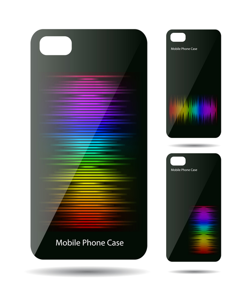 Color stripes art pattern phone cases cover vector