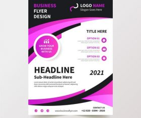 Colorful 2021 business flyer design vector