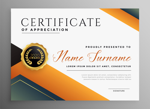 Colorful certificate cover vector