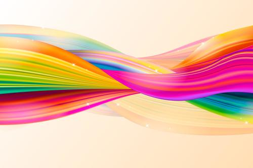 Colorful fluid twisted abstract background vector