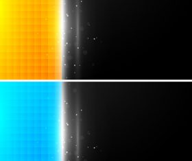 Colorful squares vector on black background