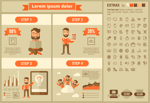 Company creative infographic vector