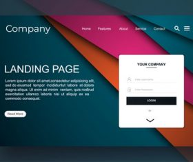 Company website landing page template vector
