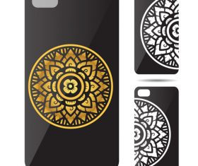 Complex circular art pattern phone cases cover vector