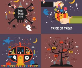 Concept cartoon illustration halloween vector