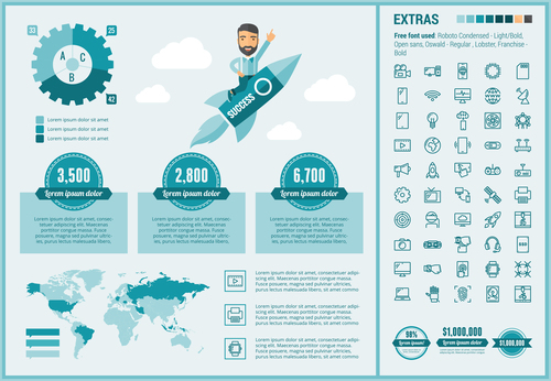 Concept infographic vector illustration
