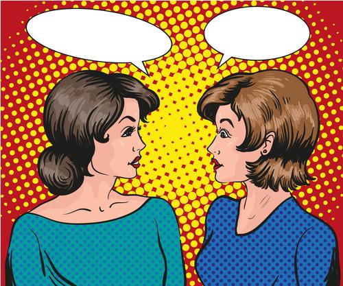 Conversation woman vector