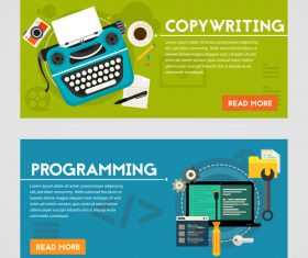 Copywriting flat concept vector