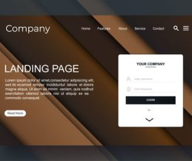 Corporate website landing page vector