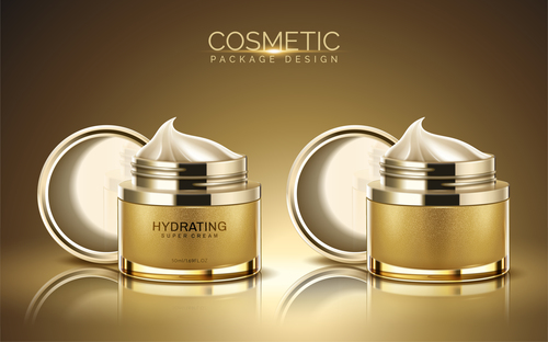 Cosmetic package design vector