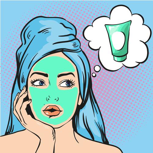 Cosmetology woman vector