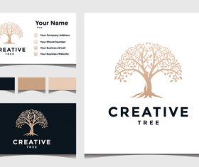 Creative business card cover design vector
