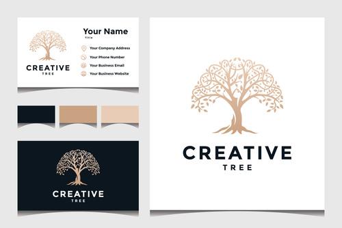 Creative business card cover design vector
