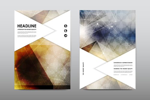 Cross pattern abstract flyer design vector