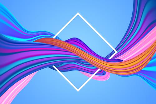 Crossing white frame fluid abstract background vector