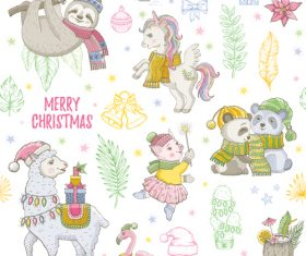 Cute christmas illustration vector