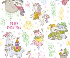 Cute christmas illustration vector