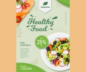 Daily fresh menu flyers vector