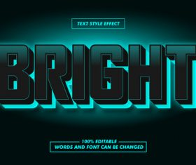 Dark green font text effect in vector